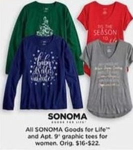 Sonoma Goods for Life and Apt. 9 Graphic Tees for Women
