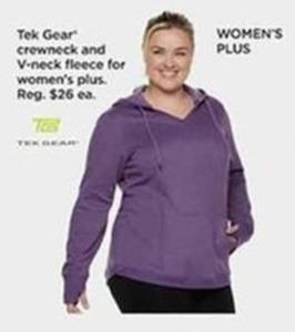 Tek Gear Crewneck and Vneck Fleece for Womens Plus