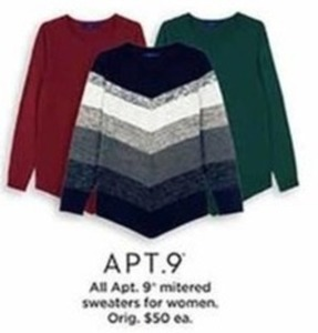 Women Apt 9 Mitered Sweaters