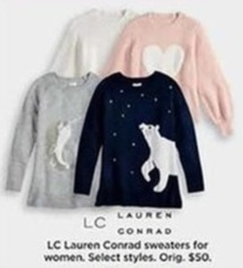LC Lauren Conrad Lace Trimmed Sweaters For Women