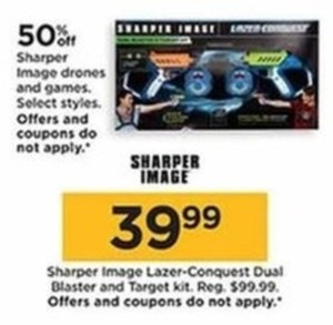 Sharper Image Lazer Conquest Dual Blaster & Target Kit