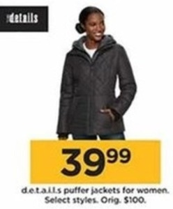 d.e.t.a.i.l.s Puffer Jackets For Women