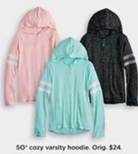 SO Cozy Varsity Hoodie For Girls