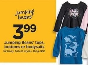 Jumping Bean Tops, Bottoms and Bodysuits for Baby