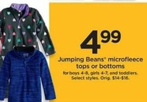 Jumping Beans Microfleece Tops or Bottoms
