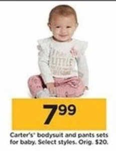 Carter's Baby Bodysuit And Pants Sets