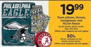 Philadelphia Eagle Team Throws - Kohls Cash
