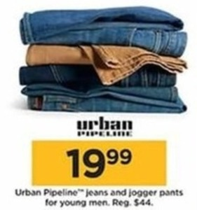 Urban Pipeline Jeans and Jogger Pants for Young Men