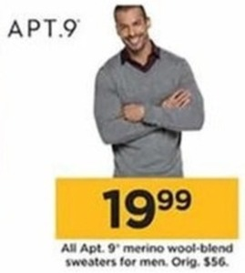 Men's Apt 9 Merino Wool Blend Sweaters
