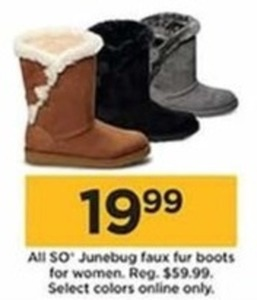 All So Junebug Faux Fur Boots For Women