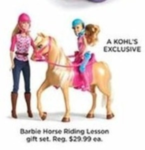 Barble Horse Riding Lesson Gift Set