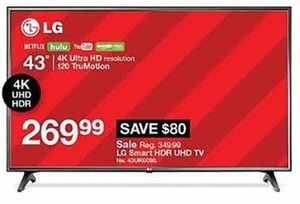 LG Smart 4K Ultra HD TV 120 TruMotion