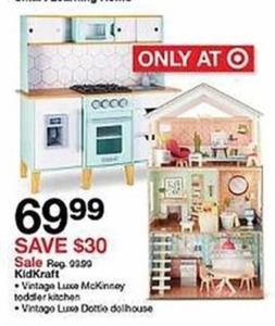 Kid Kraft Vintage Luxe McKinney Toddler Kitchen