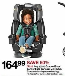 Graco 4Ever Convertible Car Seat with Safety Surround Side Impact Technology
