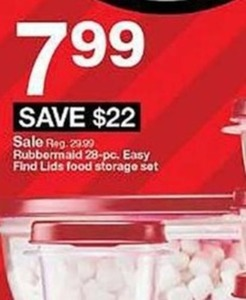Rubbermaid 28-pc. Easy Find Lids Food Storage Set