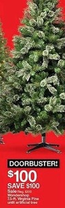 Wondershop 7.5 ft. Virginia Pine Unlit Artificial Tree