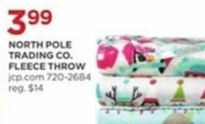 North Pole Trading Co Fleece Throw