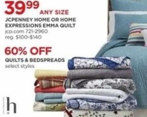 JCPenney Home Or Home Expressions Emma Quilt