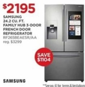 Samsung 24.2 Cu Ft. Family Hub 3-Door French Door Refrigerator