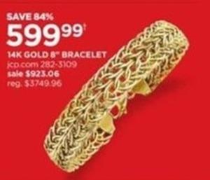 """14K Gold 8"""" Bracelet"""