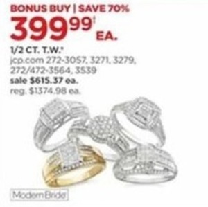 1/2 CT. T.W. Modern Bride Rings