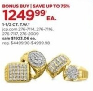 1-1/2 CT T.W. Gold Rings