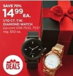 1/10 CT. T.W. Diamond Watch