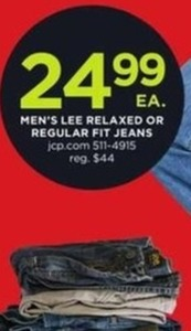 Men's Lee Relaxed or Regular Fit Jeans
