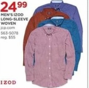 Men's Izod Long Sleeve Woven