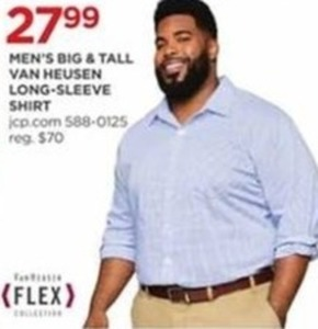 Men's Big & Tall Van Heusen Long-Sleeve Shirt