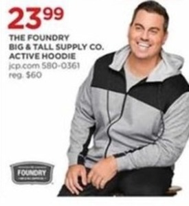 The Foundry Big and Tall Supply Co. Active Hoodie