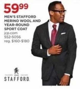 Men's Stafford Merino Wool and Year-Round Sport Coat