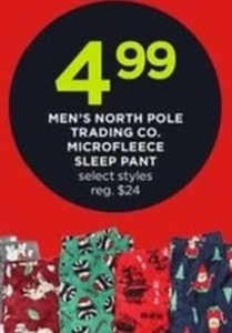 Men's North Pole Trading Co. Microfleece Sleep Pant