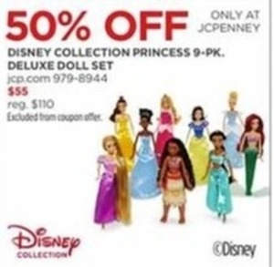 Disney Collection Princess 9-Pk Deluxe Doll Set