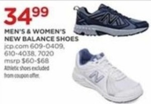 98103f7b7f8fa Men s   Women s New Balance Shoes -  34.99 at JCPenney on Black Friday