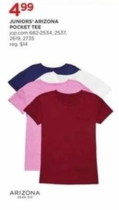 Juniors' Arizona Pocket Tee