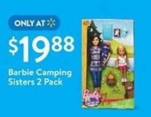 Barbie Camping Sisters 2 Pack