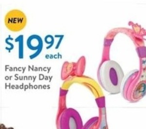 Fancy Nancy or Sunny Day Headphones