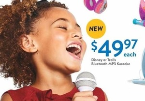 Disney or Trolls Bluetooth MP3 Karaoke