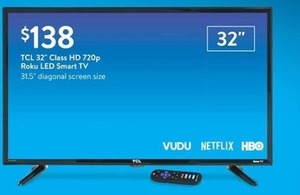 "TCL 32"" Roku Led Smart TV"