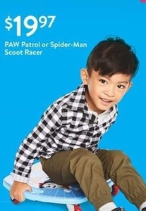 Paw Patrol Or Spider Man Scoot Racer