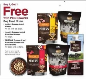 Dog Food Mixers: Instinct, Merrick and Pristine and Pristine Bone Broths