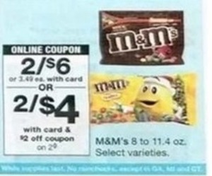 M&M's Select Varieties - With Card