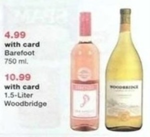 Barefoot Wine 750 ml. w/Card