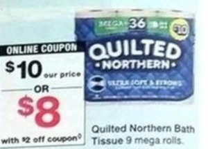 Quilted Northern 9 Mega Rolls w/Coupon