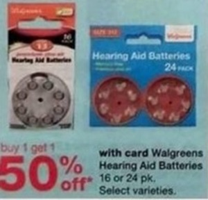 Walgreens Hearing Aid Batteries - With Card