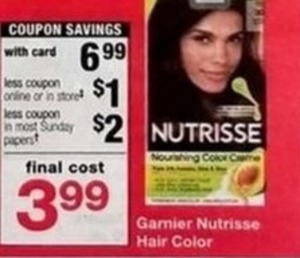 Garnier Nutrisse Hair Color w/Card + $3 in Coupons