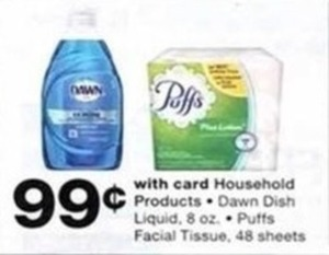 Household Products Dawn Dish Liquids, Puffs w/Card