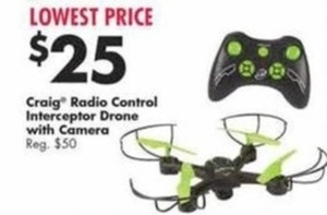 Craig Radio Control Interceptor Drone w/ Camera