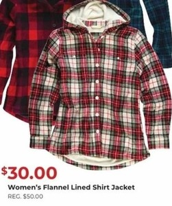 Women's Flannel Lined Shirt Jacket